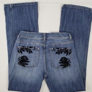 White House Black Market Embroidered Bootcut Jeans